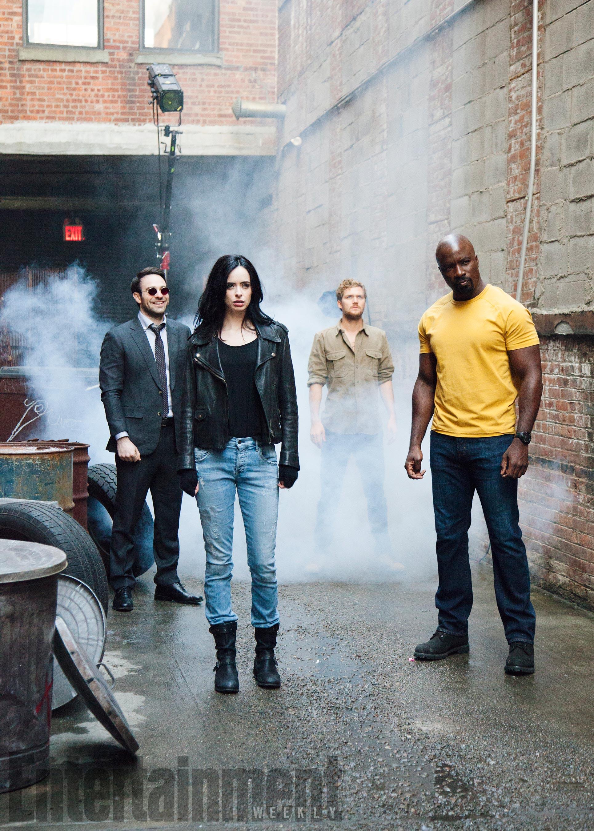 The Defenders - kulisy sesji zdjęciowej dla EW.com