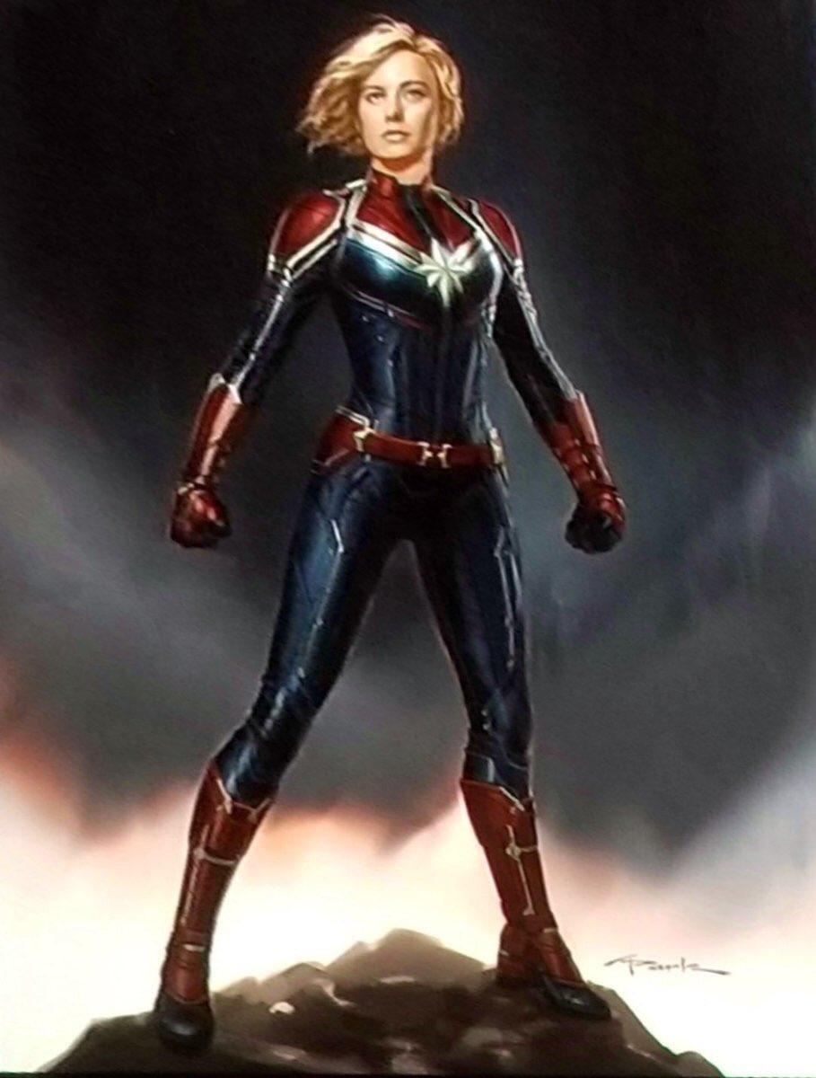 Captain Marvel - szkic koncepcyjny