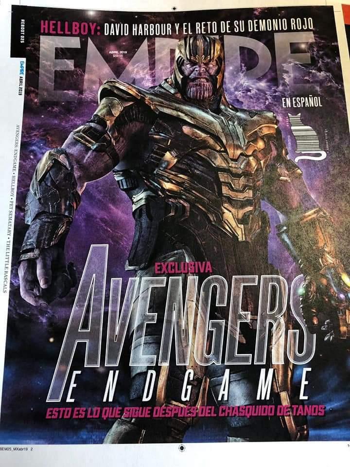 Avengers: Koniec gry - okładka Empire