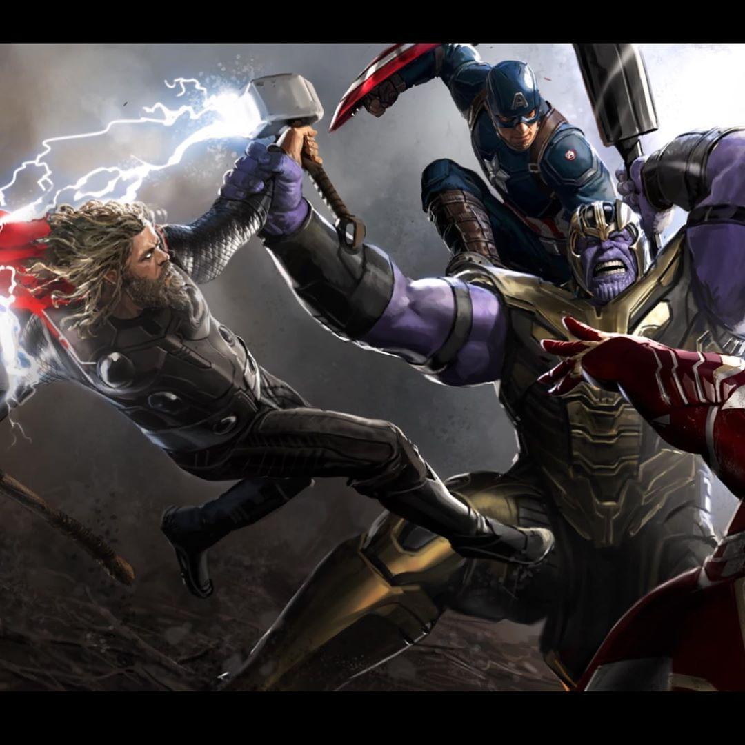 Avengers: Koniec gry - Trójca vs. Thanos