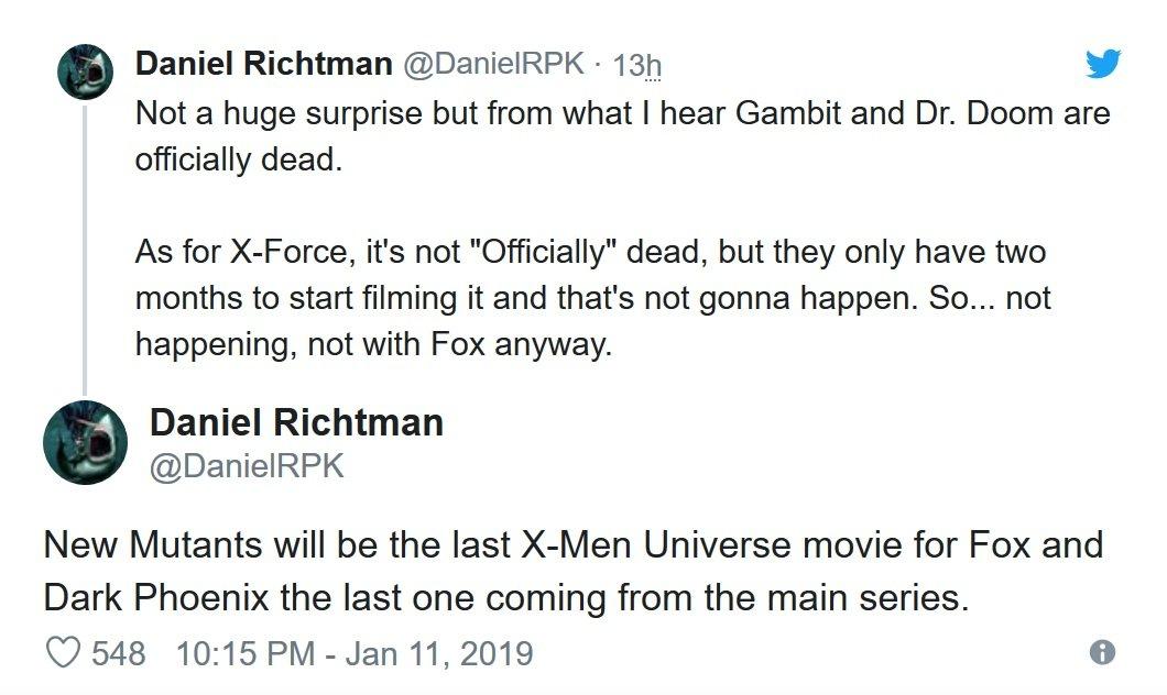 Daniel RPK o serii X-Men