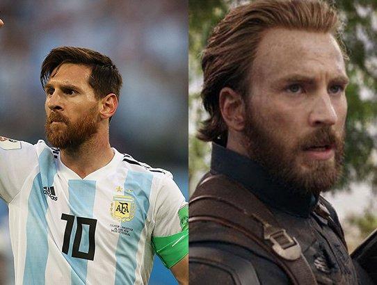 Capitan America/Lionel Messi