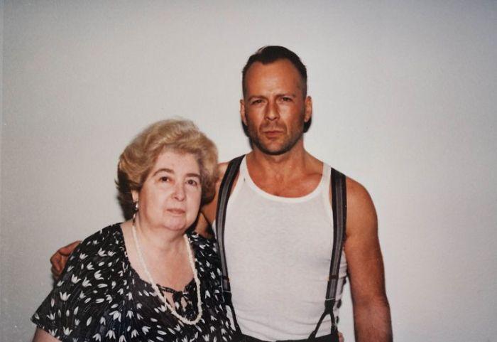 Maria Snoeys-Lagler z gwiazdami - Bruce Willis