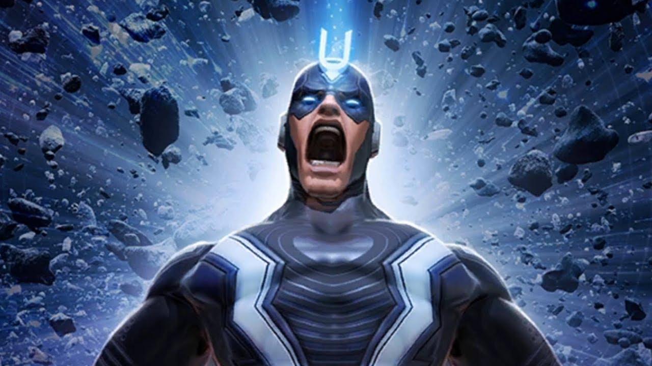 50. Black Bolt - Lider Inhumans. Posiada niewyobrażalną siłę fizyczną, jednak jego największą bronią jest głos – najcichszy szept niszczy miasta, krzyk zaś całe planety. W niektórych komiksach Black Bolt potrafił także manipulować energią i materią, mogąc dowolnie je zmieniać.