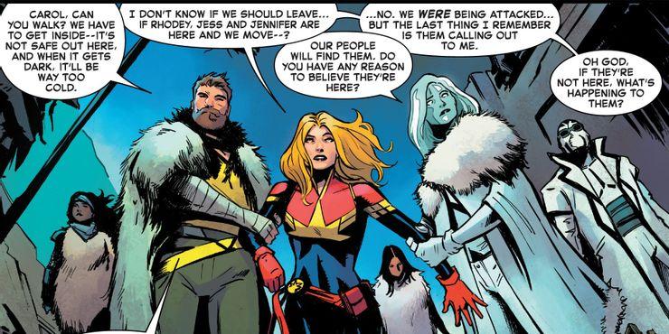 Captain Marvel #22 - plansze