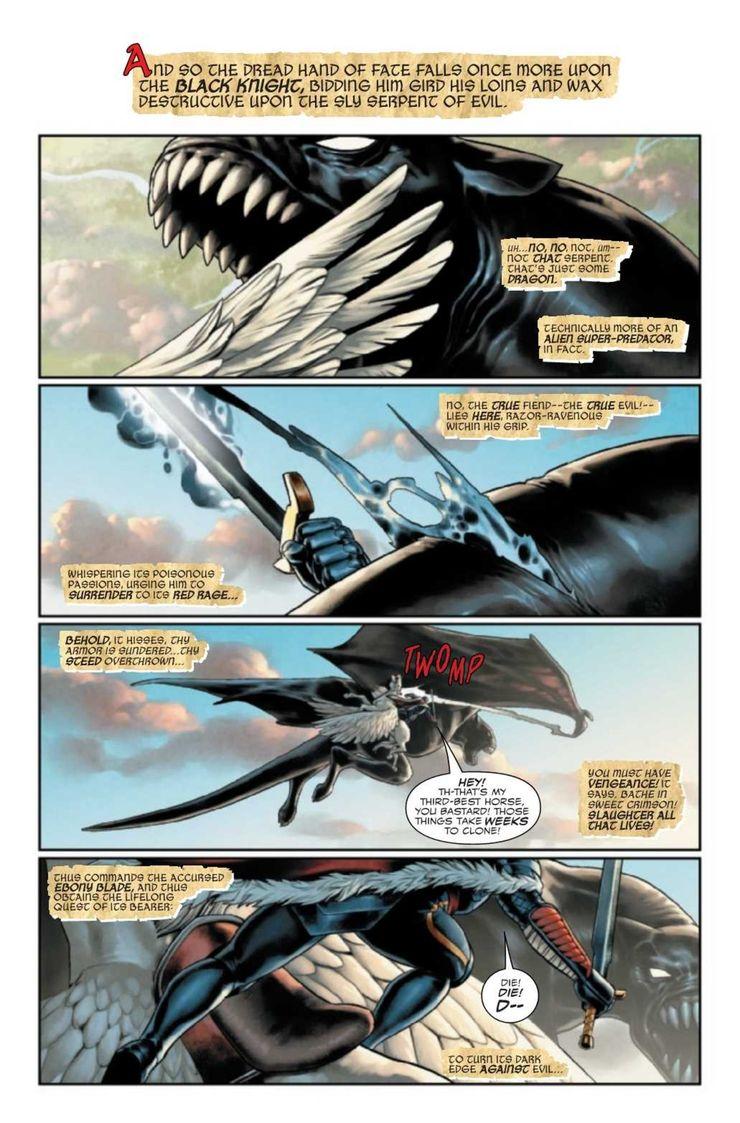 King in Black: Black Knight #1 - plansze